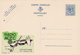 Carte Entier Postal Publibels 1122 Radio Acec Récepteurs De Qualité Violon Musique - Entiers Postaux