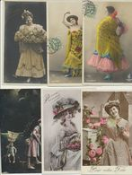 Lot De 25 Cartes Fantaisie Femme - Cartes Postales