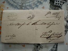 Ex Offo KK Bezirksamt In Austerlitz  Brunn Bahnhof  Temesvar To Wersecz Vrsac Banat 1861 - Tchécoslovaquie
