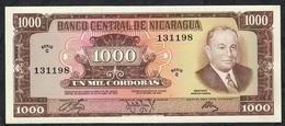 NICARAGUA P128a 1000 CORDOBAS 1972 UNC. - Nicaragua