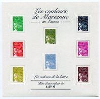 RC 11984 FRANCE BF N° 67 LES COULEURS DE MARIANNE BLOC FEUILLET NEUF ** A LA FACIALE - Nuevos