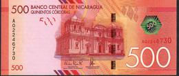 NICARAGUA P214  500 CORDOBAS 26.3.2014  Prefix A       UNC. - Nicaragua