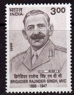 India 1999 Birth Centenary Of Brigadier Rajinder Singh, MNH, SG 1882 (D) - Neufs