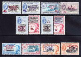 Sierra Leone, 1963, Definitives, Overprinted Oldest Postal Service, MNH, Michel 239-250 - Sierra Leone (1961-...)