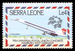 Sierra Leone, 1984, UPU World Postal Congress Hamburg, Concorde, Airplane, MNH, Michel 750 - Sierra Leone (1961-...)