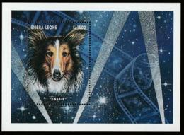 Sierra Leone, 1996, Dog, Lassie, Film, Cinema, MNH, Michel Block 291 - Sierra Leone (1961-...)