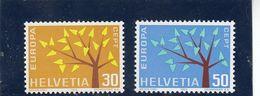 Suisse - Année 1962 - Neuf** - N°Zumstein 389/90** - Europa - Suisse