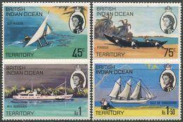 BIOT 1969. Michel #32/35 MNH/Luxe. Transport. Ships. Ships Of The Islands (Ts10) - Boten