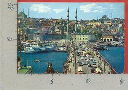 CARTOLINA VG TURCHIA - ISTANBUL - Galata Bridge And New Mosque - 10 X 15 - 1973 - Turchia