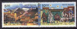 India 1999 New Millenium, Unity In Diversity Pair, MNH, SG 1894/5 (D) - Inde