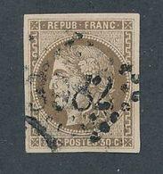 """DP-174: FRANCE: Lot Avec """"BORDEAUX """" N°47 Obl (signé Darteyre) - 1870 Bordeaux Printing"""