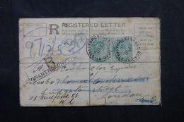 INDE - Entier Postal + Compléments En Recommandé De Bombay Pour Londres En 1906 - L 63028 - India (...-1947)