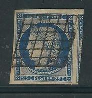 FRANCE N° 4 A Obl. TTB - 1849-1850 Cérès