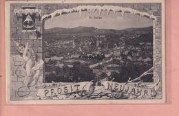 OUDE POSTKAART - ZWITSERLAND -  SCHWEIZ -   SUISSE -    ST. GALLEN - PROSOT NEUJAHR  1906 - SG St. Gall