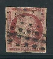 FRANCE N° 6 Obl. Gros Points Marge Touchée En Haut - 1849-1850 Cérès