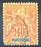 Martinique N°40 - Oblitéré - Cote 23€ - (F1101) - Used Stamps