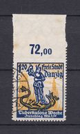 Danzig - 1921 - Michel Nr. 92 P OR - Gestempelt - 280 Euro - Dantzig