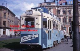 Reproduction D'unePhotographie D'un Tramway Ligne 4 Avec Publicité Stomatol à Oslo En 1964 - Reproducciones