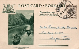 Serie Entier Postal 1 1/2d - Postcard South Africa: Wilge River - Wilgerivier Harrismith - Collections, Lots & Séries