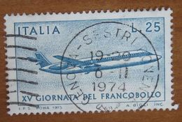 1973 ITALIA Aerei Giornata Del Francobollo Mail Plane - Lire 25 Usato - 1971-80: Gebraucht
