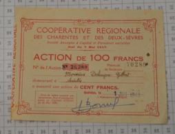 Coopérative Régionale Des Charentes Et Des Deux-Sevres (petit Format) - Agriculture