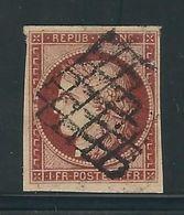 FRANCE N° 6 B Carmin Brun Foncé Obl. TTB - 1849-1850 Cérès