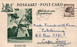 Serie Entier Postal 1 1/2d - Postcard South Africa: Die Ou Meul Kaap (the Old Mill Cape) - Sud Africa (1961-...)