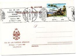 Tarjeta  Con Matasellos Commemorativo De Dia Fuerzas Armadas - 1931-Hoy: 2ª República - ... Juan Carlos I
