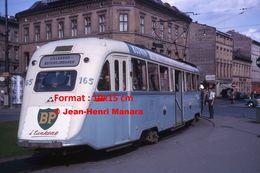 Reproduction D'unePhotographie D'un Tramway Ligne Lilleaker Avec Publicité BP à Oslo En 1964 - Reproducciones