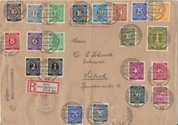 R-Brief, Einschreiben, Satzbrief, Berlin Charlottenburg 1946 N. Lübeck, Sammlerbrief, Postamt Göthestraße - Zona AAS