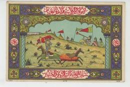 TURQUIE - Empire Ottoman - Scène De Combat à Cheval (carte Postale Type Miniature ) - Turquie
