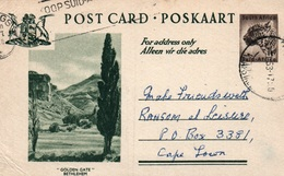 Serie Entier Postal 1 1/2d - Postcard South Africa: Golden Gate Bethlehem - Collections, Lots & Séries