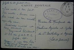 Grézels (Lot) 1940, Cachet G.A.R.T N°2 6e Compagnie, Sur Carte Pour Saint Barthélémy D'Agenais (Lot Et Garonne) - Postmark Collection (Covers)