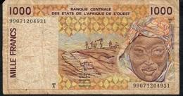 W.A.S. TOGO P811Ti 1000 FRANCS (19)99  VG NO P.h. - Togo