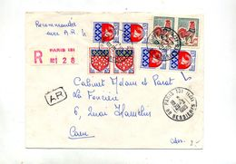 Lettre Recommandée Paris 131 Sur Coq Paris - Postmark Collection (Covers)