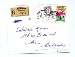 Lettre Recommandée Blainville Sur Dunkerque Cocteau - Marcophilie (Lettres)