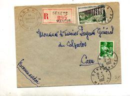 Lettre Recommandée Genets Moisson Viaduc - Marcophilie (Lettres)