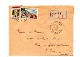 Lettre Recommandée Reville Sur Touquet - Marcophilie (Lettres)