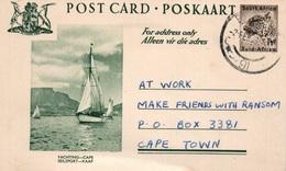 Serie Entier Postal 1 1/2d - Postcard South Africa: Yachting, Cape (Seilsport, Kaap) - Collections, Lots & Séries