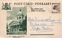 Serie Entier Postal 1 1/2d - Postcard South Africa: The Raadsaal (Die Raadsaal) Bloemfontein - Collections, Lots & Séries