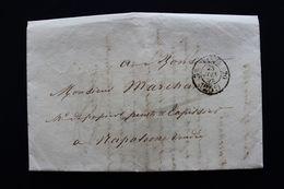 1854 PARIS CAD 28/06/54 PORT DÛ 25C POUR NAPOLEON VENDEE CAD ARRIVEE DU 29/06 AMB PARIS A NANTES DU 28/06/54 - 1849-1876: Klassik