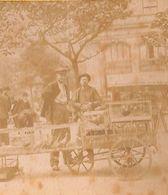 Paris (?) - Marché Volailles Animée Photo Stéréo Stéréoscopique Sur Carton (1880-1900) - Fotos Estereoscópicas