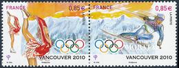 2010 France Yv# P4436  **MNH  TTB Très Beau. J.O.  Vancouver 10 (Yvert&Tellier) - Neufs