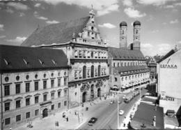 Tram/Strassenbahn München,St. Michaeliskirche,Opel Olympia Rekord,Ford Taunus Buckel..., Gelaufen - Tramways