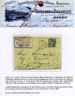 Lettre Perforé T&D 25 1893 (Belle Date) - France