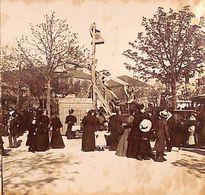 Paris (?) - Foire Forain Attraction Fauteuil Aérien Animée Photo Stéréo Stéréoscopique Sur Carton (1880-1900) - Fotos Estereoscópicas