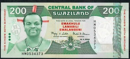 SWAZILAND P35 200 EMALANGENI 2008 COMMEMORATIVE UNC. - Swaziland