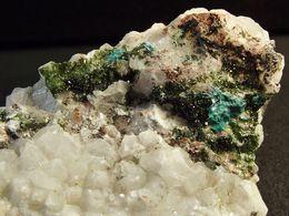 Libethenite With Chrysocolla, Quartz On Matrix ( 5 X 3 X 2 Cm) - Miguel Vacas Mine - Vila Viçosa - Evora Portugal - Minéraux