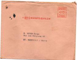 Monte-Carlo 12.1955 - EMA - Machine à Affranchir - Machine Stamps (ATM)