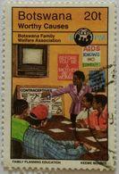 022. BOTSWANA 1970 USED STAMP FAMILY WELFARE ASSOCIATION, AIDS - Botswana (1966-...)
